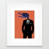 birdman Framed Art Prints featuring BirdMan by PandaGunda