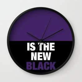 Ultra Violet is the new Black Wall Clock