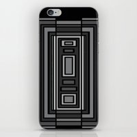 gray pattern iPhone & iPod Skins featuring Gray by Emma Michels