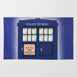 vintage police box starfield Rug