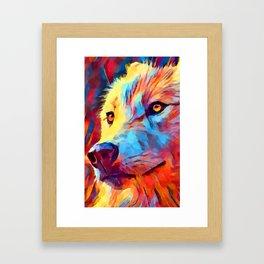 Wolf Portrait 3 Framed Art Print