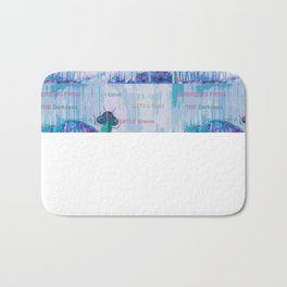 Journey of the Dragonfly mosaic Bath Mat