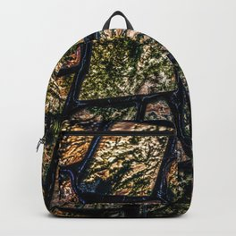 Colorful stainglass pattern Backpack