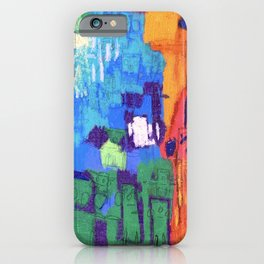 """Barbie's """"2008"""" Block Kids in Orange and Red Mountains Under a Blue Sky iPhone Case"""