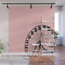 Ferris Wheel (Pink) Wall Mural