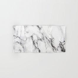 White Marble Texture Hand & Bath Towel