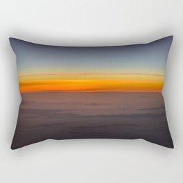 Sunrise over clouds Rectangular Pillow