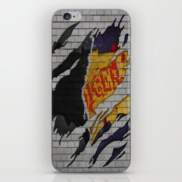 BAT-MAN V JOKER BRICK WALL iPhone Skin