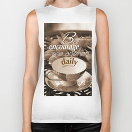 Encourage One Another Biker Tank