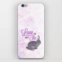Love is in the hare. iPhone Skin