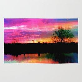 Watercolor January Texas Sunrise Rug