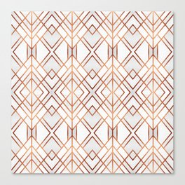 Copper Geo Canvas Print