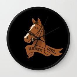 Horse Girl Wall Clock