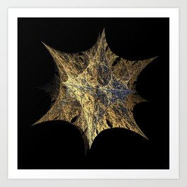 3D Fractal Star Art Print