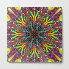 Crazy colors 3D mandala Metal Print