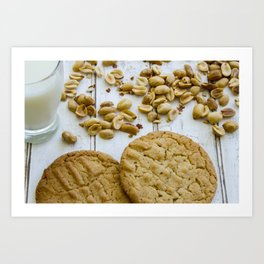 Peanut Butter Cookies Art Print