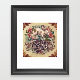 Dust Bunny Framed Art Print