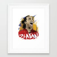 zlatan Framed Art Prints featuring Zlatan by Superfan
