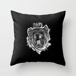 Berlin Bear King Throw Pillow