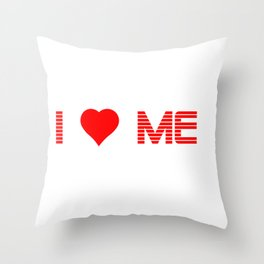 Valentine's - I Love Me (Heart) Throw Pillow