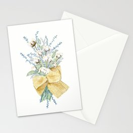 Cotton and Flower Bouquet Watercolor by Liz Ligeti Kepler Stationery Cards