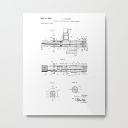Apparatus for Applying a Getter Material Vintage Patent Drawing Metal Print