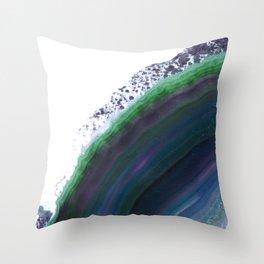 Strata Agate Throw Pillow