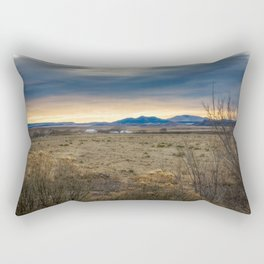 Forever West - Warm Light on a Cold Winter Morning in New Mexico Rectangular Pillow