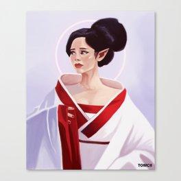 Elf Lady Painting Canvas Print