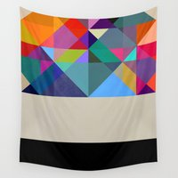 prism Wall Tapestries featuring Prism 1 by Georgiana Paraschiv