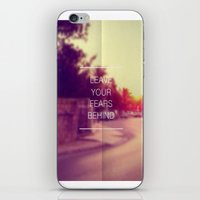 bible verse iPhone & iPod Skins featuring Leave Your Fears Behind - Bible Verse - Inspirational Quote - Motivational Quote by Kris James