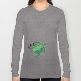 Vintage Hawaiian Distressed Turtle Long Sleeve T-shirt