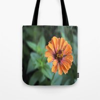 rileigh smirl Tote Bags featuring Orange and Pink by Rileigh Smirl