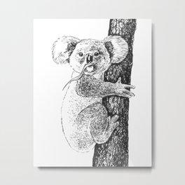 Koala ink drawing Metal Print