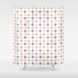 Geometric pattern dots purple and orange Shower Curtain