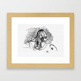 Warbot Sketch #021 Framed Art Print