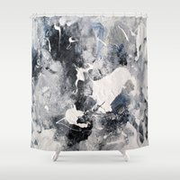 manhattan Shower Curtains featuring Manhattan by Solveig Noll
