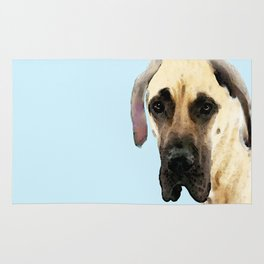 Great Dane Art - Dog Painting by Sharon Cummings Rug