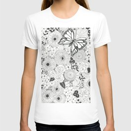 Monarch butterfly garden T-shirt