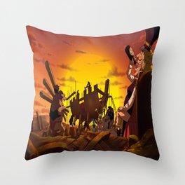 shipbuilding Throw Pillow