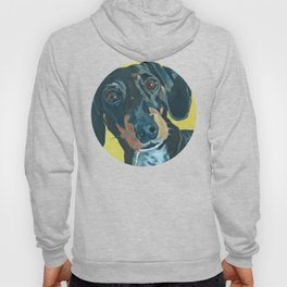 Dachshund Dog Portrait Hoody