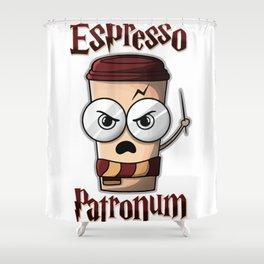 Espresso Patronum Shower Curtain