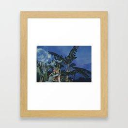 Bananas Blue Framed Art Print