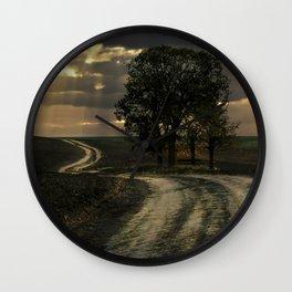 An old forgotten road Wall Clock