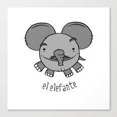 el elefante Canvas Print