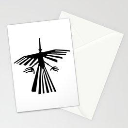 nazca bird black line Stationery Cards