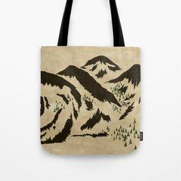 Sleepy Bear Mountain Tote Bag