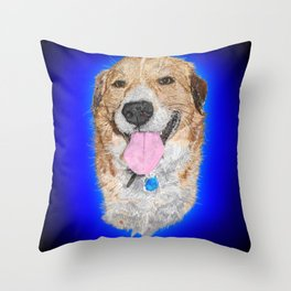 Dolly the Rescued Dog Throw Pillow