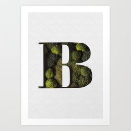 Broccoli Forest Bodoni Art Print