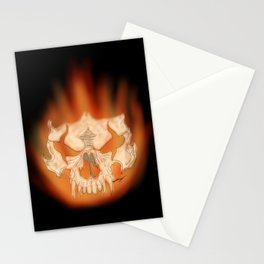 Flaming skull Stationery Cards